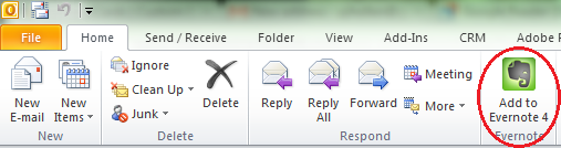 how to read evernote email in outlook